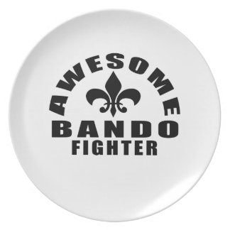 AWESOME BANDO FIGHTER PARTY PLATES