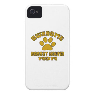 AWESOME BASSET HOUND MOM iPhone 4 Case-Mate CASE