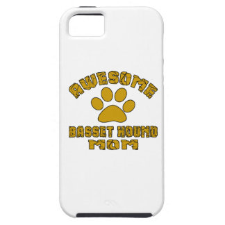 AWESOME BASSET HOUND MOM iPhone 5 COVER