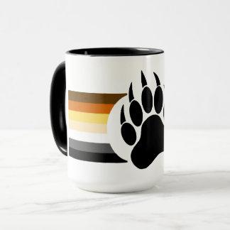 Awesome Bear pride flag bear paw Mug