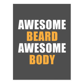 Awesome Beard Awesome Body Postcard