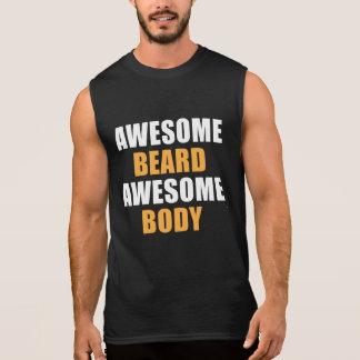 Awesome Beard Awesome Body Sleeveless Shirt