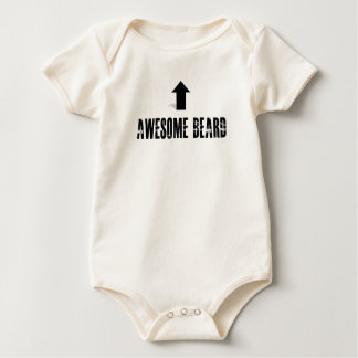 Awesome Beard Baby Bodysuit