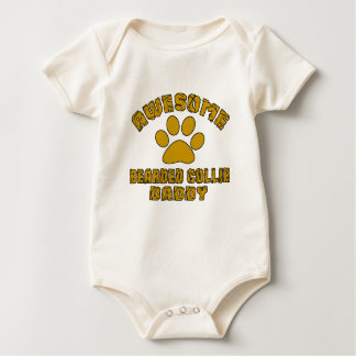 AWESOME BEARDED COLLIE DADDY BABY BODYSUIT