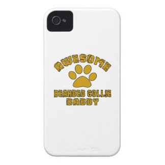 AWESOME BEARDED COLLIE DADDY iPhone 4 Case-Mate CASES