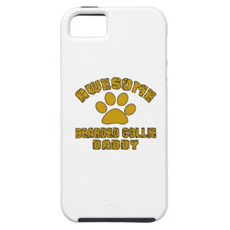 AWESOME BEARDED COLLIE DADDY iPhone 5 COVER