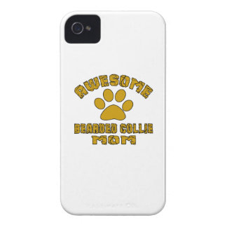 AWESOME BEARDED COLLIE MOM iPhone 4 CASE