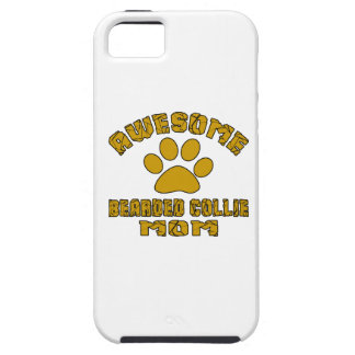 AWESOME BEARDED COLLIE MOM iPhone 5 CASES