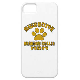 AWESOME BEARDED COLLIE MOM iPhone 5 COVER