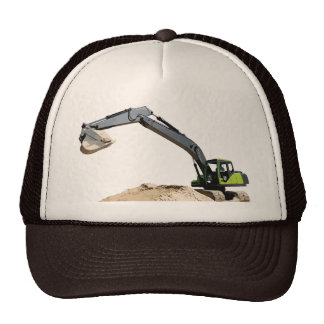 Awesome Big Green Construction Excavator #4 Cap