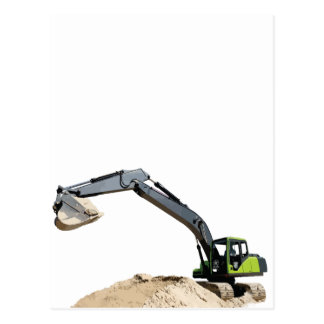 Awesome Big Green Construction Excavator #4 Postcards