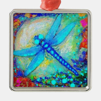 Awesome Blue Dragonfly by Sharles Metal Ornament