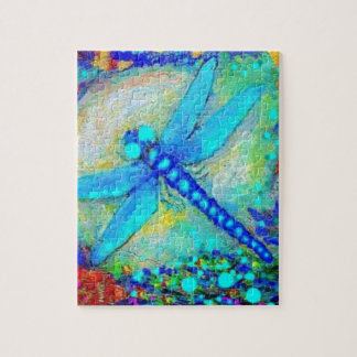 Awesome Blue Dragonfly by Sharles Puzzles