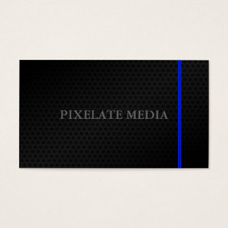 Awesome blue lined honeycomb professional business card