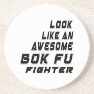 Awesome Bok Fu Fighter Beverage Coasters