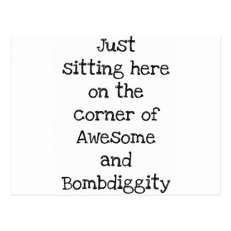 Awesome Bombdiggity Poster Postcard