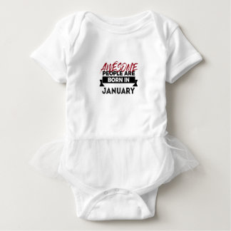 Awesome Born In January Babies Birthday Baby Bodysuit
