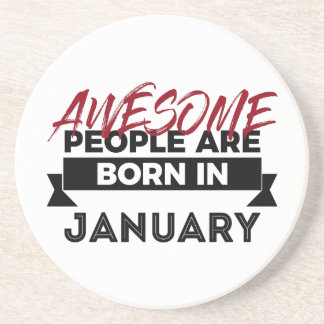 Awesome Born In January Babies Birthday Coaster