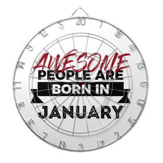 Awesome Born In January Babies Birthday Dartboard