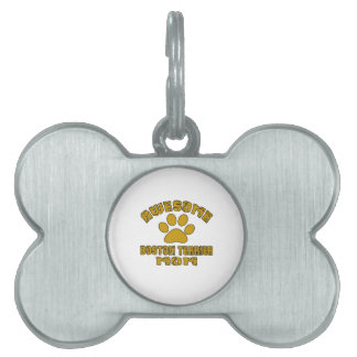 AWESOME BOSTON TERRIER MOM PET ID TAG