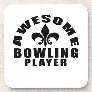AWESOME BOWLING PLAYER BEVERAGE COASTER
