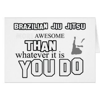 Awesome brazilian jiu jitsu design card
