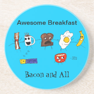 Awesome Breakfast, Bacon and All Drink Coaster