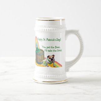 Awesome Bulldog St. Patrick's Day Beer Stein Beer Steins