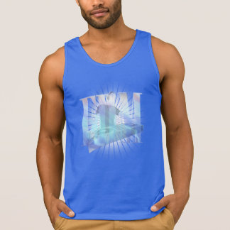 AWESOME BURSTING EDM ELECTRIC BLUE HOT !!! TANK TOPS