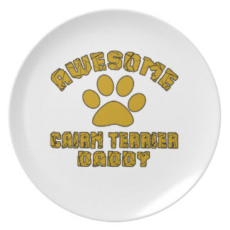 AWESOME CAIRN TERRIER DADDY PLATES