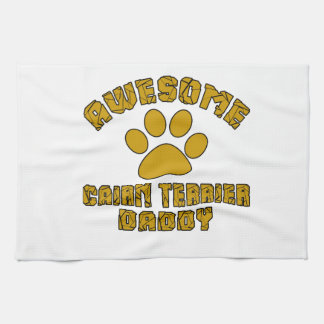 AWESOME CAIRN TERRIER DADDY TOWELS