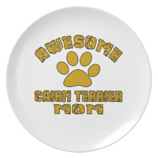 AWESOME CAIRN TERRIER MOM DINNER PLATE