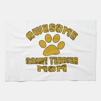 AWESOME CAIRN TERRIER MOM HAND TOWEL