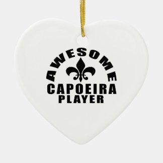 AWESOME CAPOEIRA PLAYER CERAMIC HEART DECORATION
