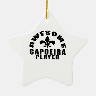 AWESOME CAPOEIRA PLAYER CERAMIC STAR DECORATION