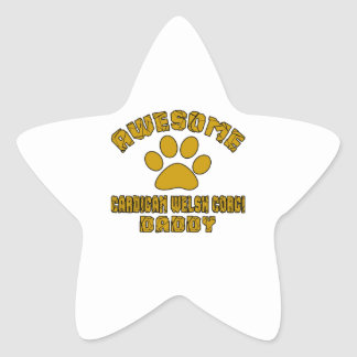 AWESOME CARDIGAN WELSH CORGI DADDY STAR STICKER