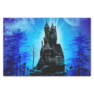 Awesome castle in the night with moon and stars tissue paper