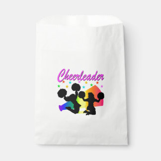 AWESOME CHEERLEADER MEGAPHONE DESIGN FAVOUR BAGS