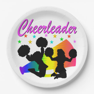 AWESOME CHEERLEADER MEGAPHONE DESIGN PAPER PLATE