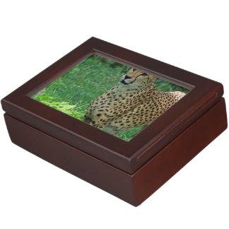 Awesome cheetah keepsake box