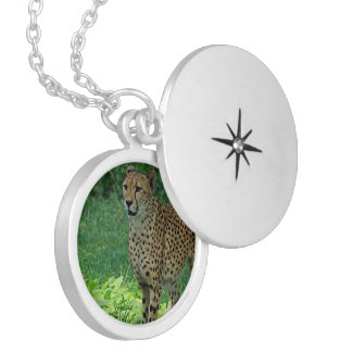Awesome cheetah locket necklace