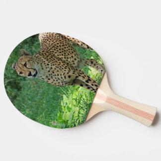 Awesome cheetah ping pong paddle