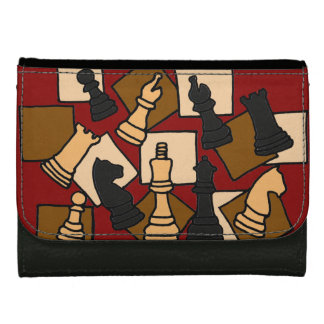 Awesome Chess Art Abstract Wallet