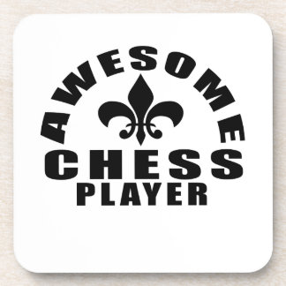 AWESOME CHESS PLAYER DRINK COASTER
