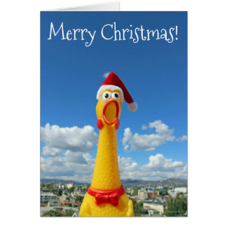 Awesome Chicken Christmas Card! Card