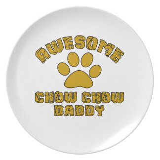 AWESOME CHOW CHOW DADDY PARTY PLATES