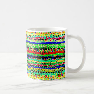 Awesome Colorful Striped Beads Abstract Design Coffee Mug