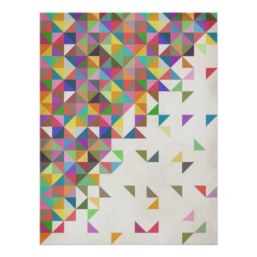Awesome colourful retro geometric pattern posters