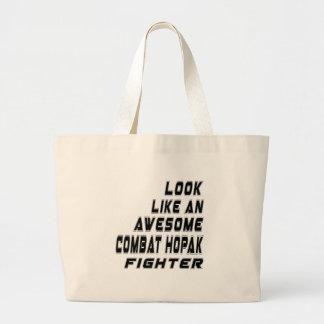 Awesome Combat Hopak Fighter Jumbo Tote Bag