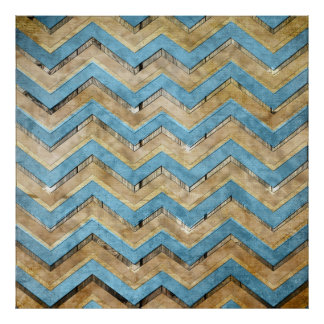 Awesome cool chevron zigzag pattern posters